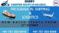 New Batch Start for Shipping and Logistics Program