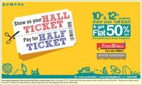 50% off on entry tickets at EsselWorld and Water Kingdom for SSc ana HSC students
