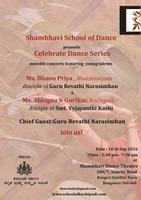Shambhavi School of Dance - Celebrate Dance Series Sep 2016