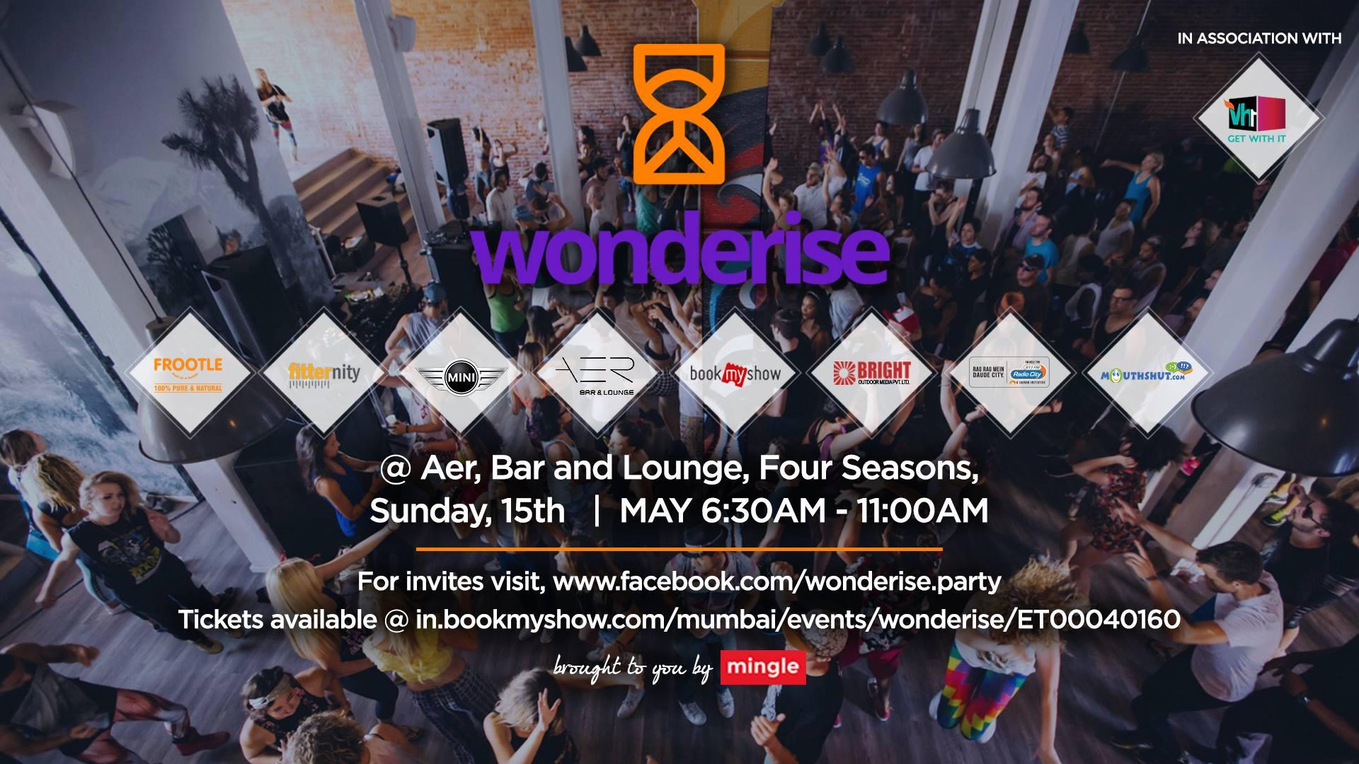 Wonderise Morning Party @ AER - Bar and Lounge