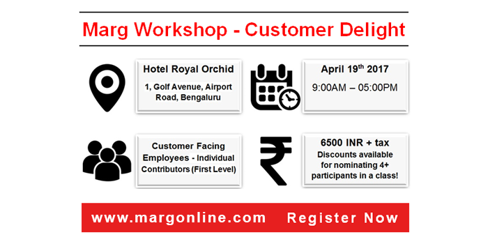 Customer Delight Workshop by Marg Bangalore