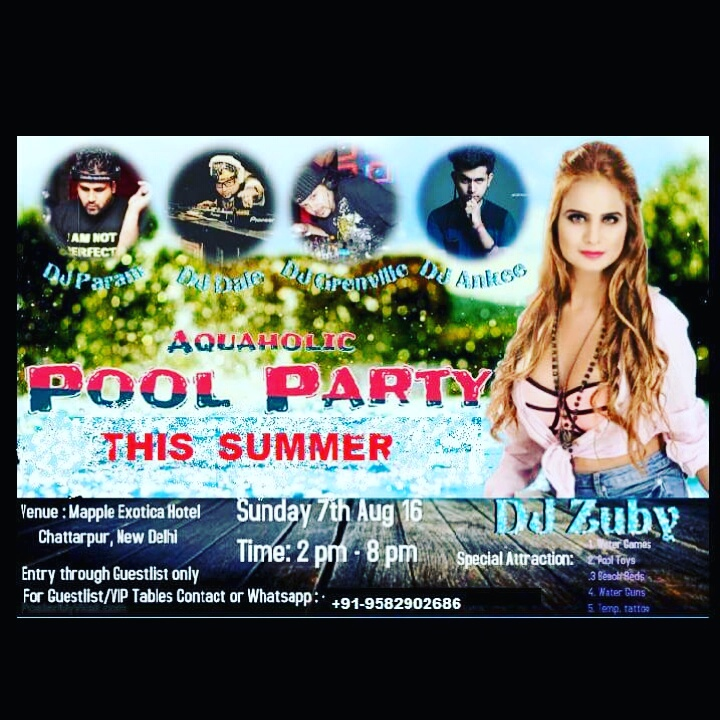 POOL PARTY ..get yourself listed