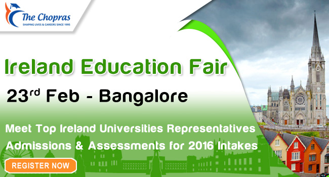 Ireland Education Fair in Bangalore invites you All