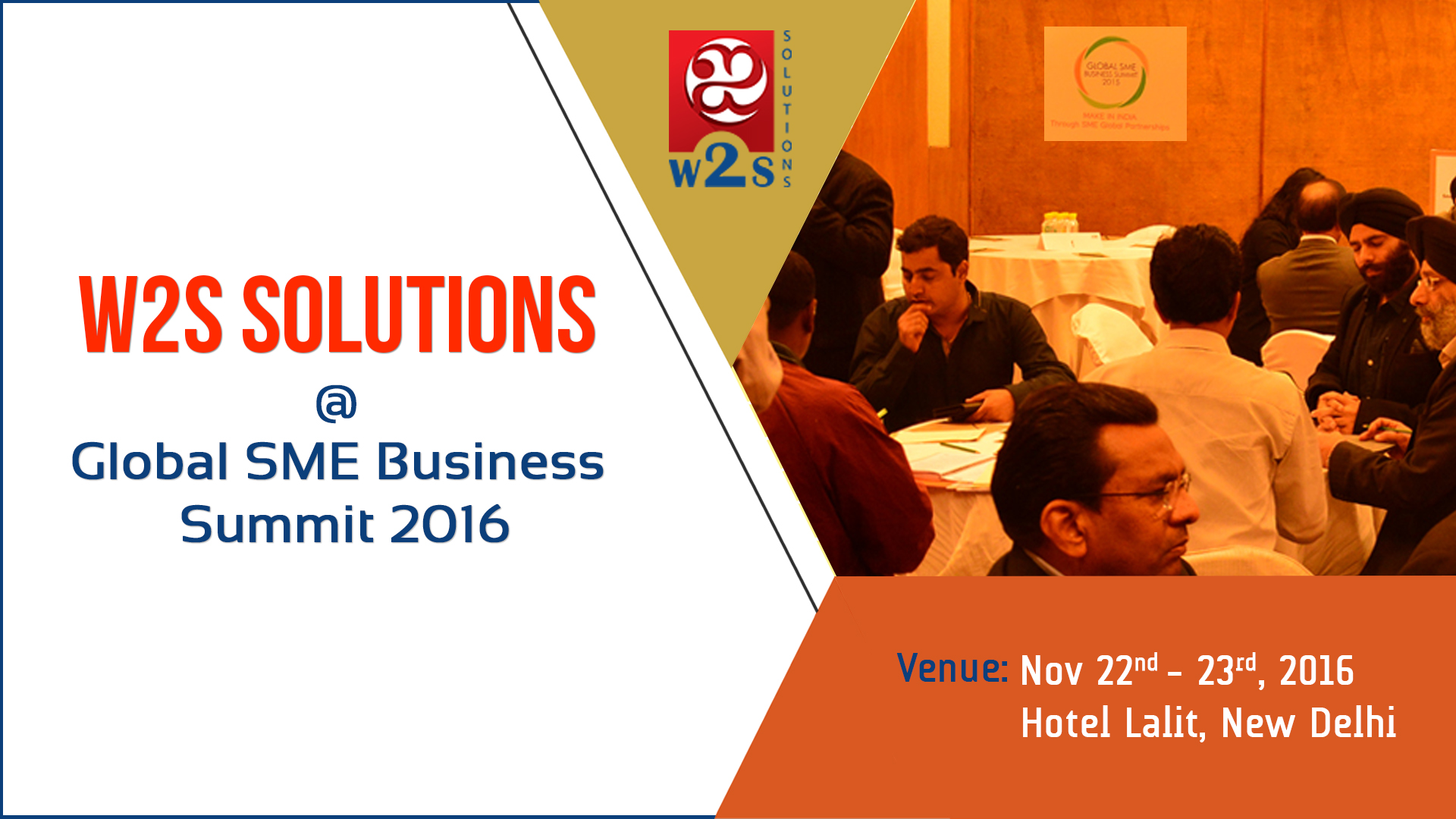 Catch W2S Solutions at Global SME Business Summit 2016