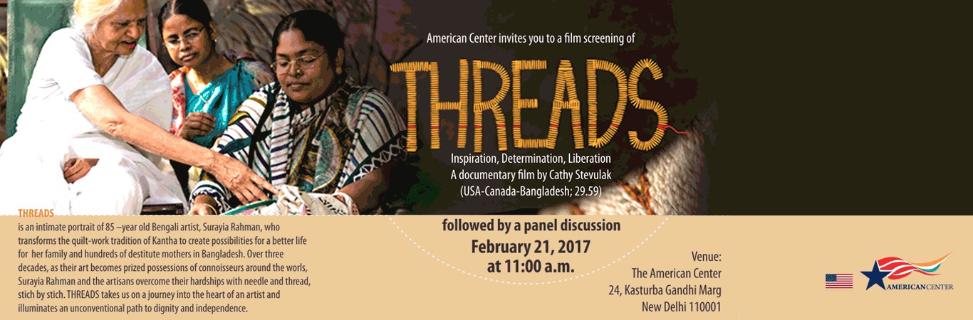 Film Screening Of THREADS - A documentary film by Cathy Stevulak