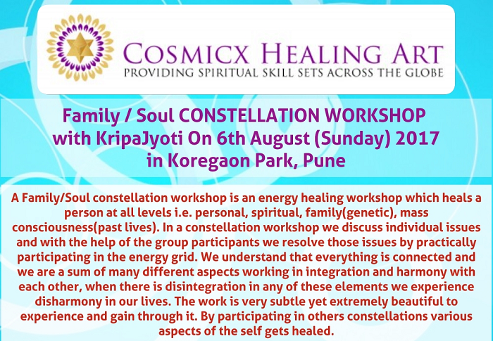 Family /Soul Constellation Workshop with Kripajyoti on 6th August 2017, Pune