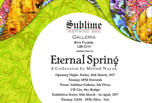 Eternal Spring, an Art Exhibit by Milind Nayak