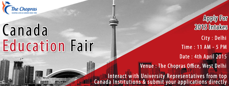 Canada Education Fair 2015 – Curtain Raiser in West Delhi