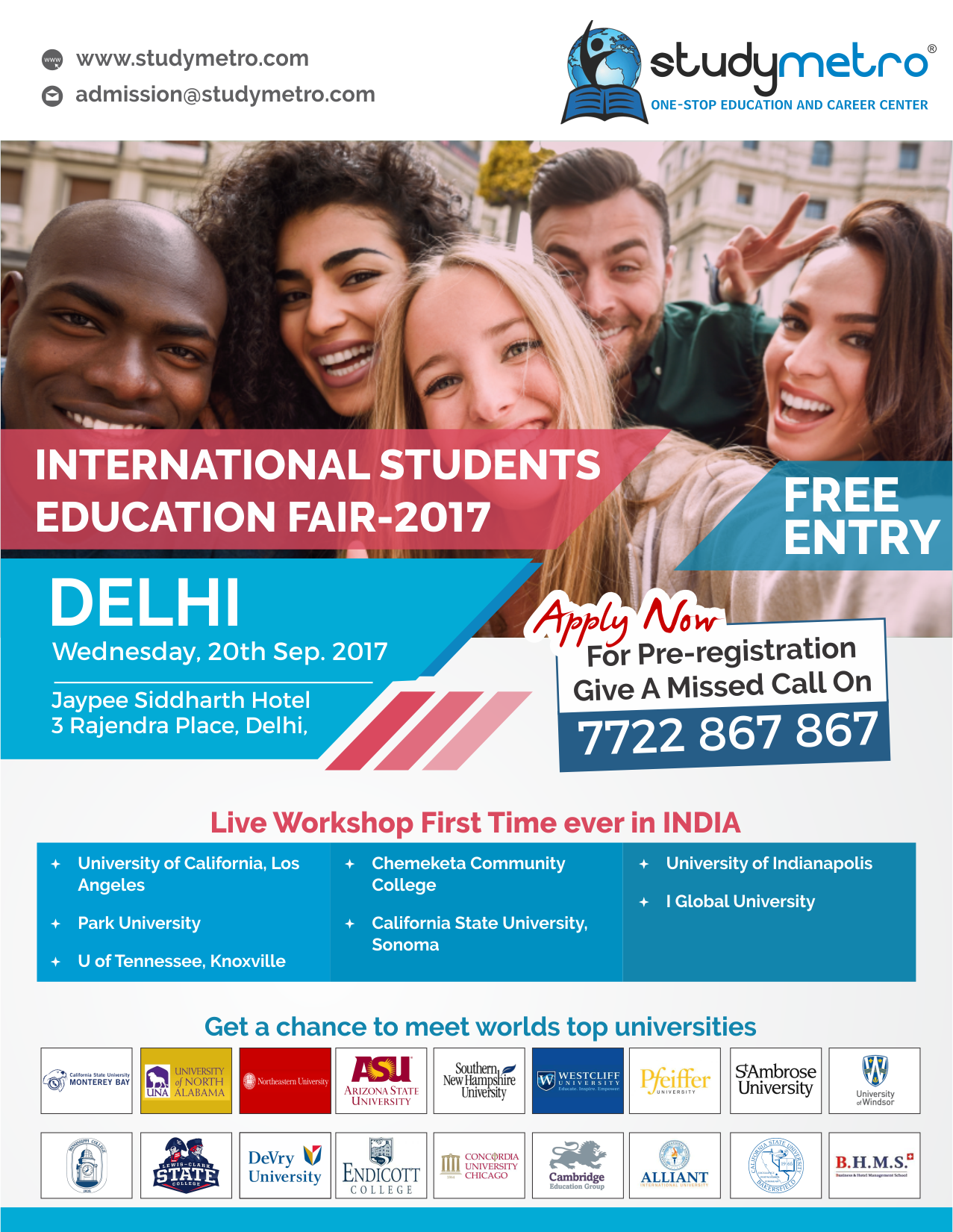 International Students Education Fair(ISEF)-Sept 2017,Delhi