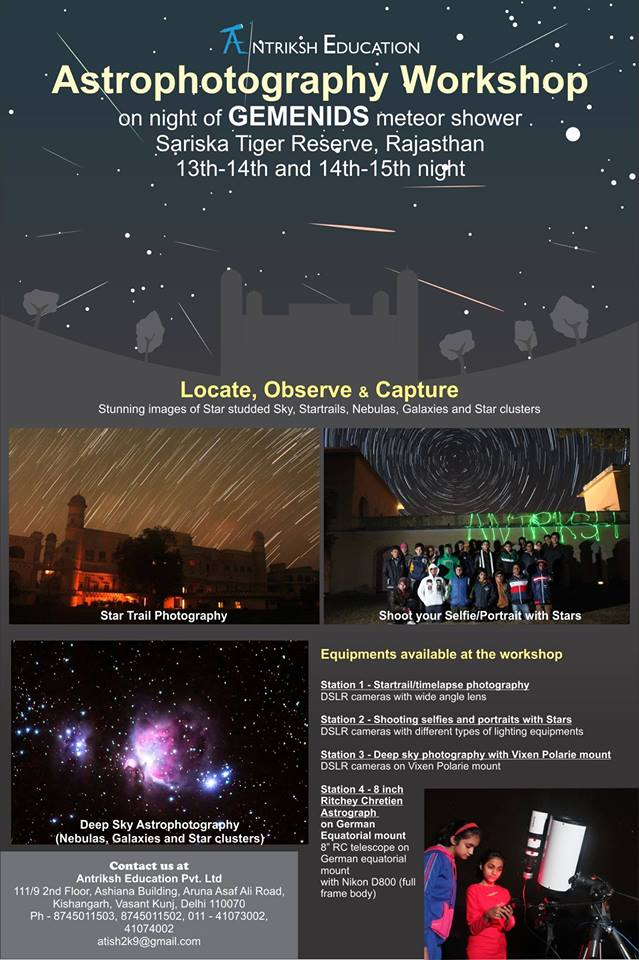 Astrophotography workshop - Gemenids Meteor shower