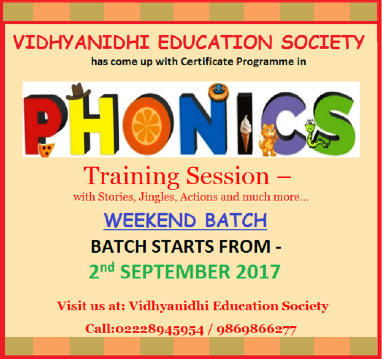 Phonics Teacher Training Certificate Programme