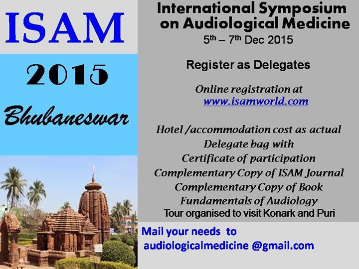 International Symposium on Audiological Medicines (ISAM-2015)