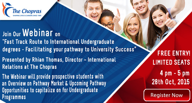"Webinar on ""Fast Track Route to International Undergraduate Degrees"""