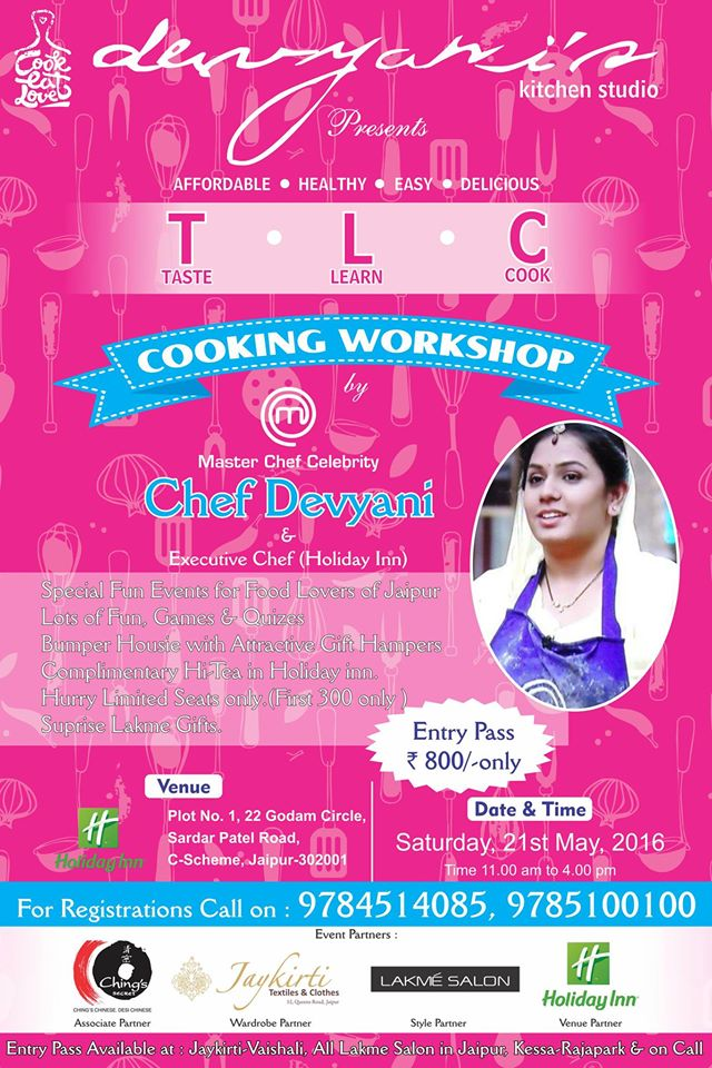 Devyani's Cooking workshop in Jaipur