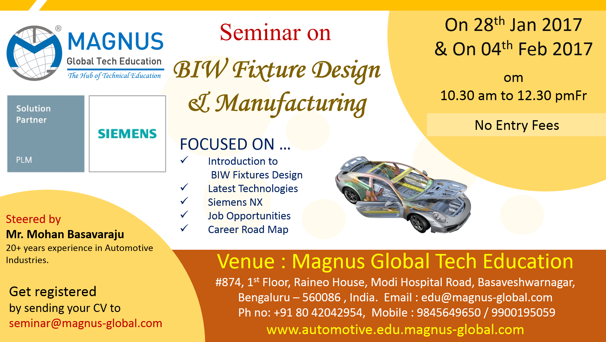 Seminar On BIW Fixture Design & Manufacturing
