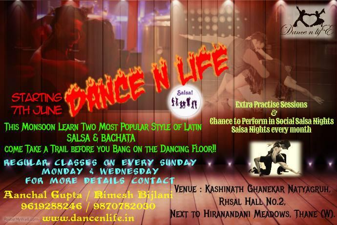 DANCE N LIFE Salsa & Bachata Classes !!!