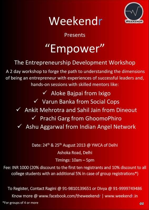 Empower - The Entrepreneurship Development Workshop
