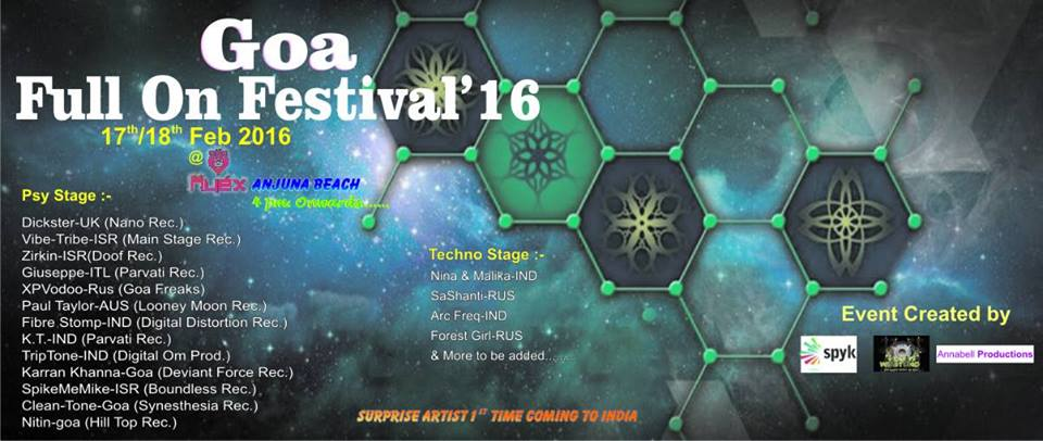 GOA'S FULL-ON Music Festival 2016