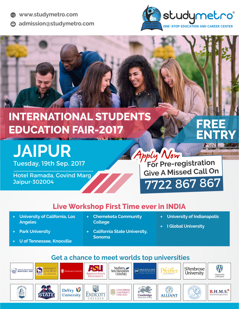 International Students Education Fair(ISEF)-Sept 2017,Jaipur