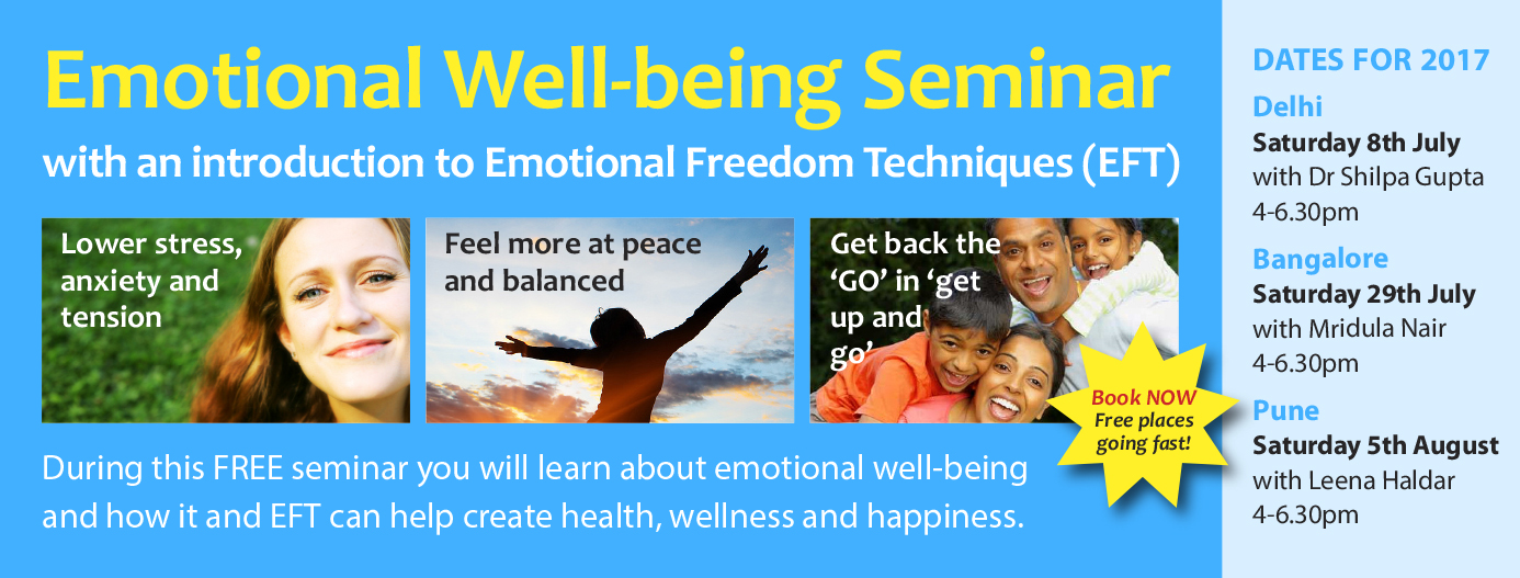 Emotional Wellbeing Seminar  with an Introduction to Emotional Freedom Techniques (EFT)