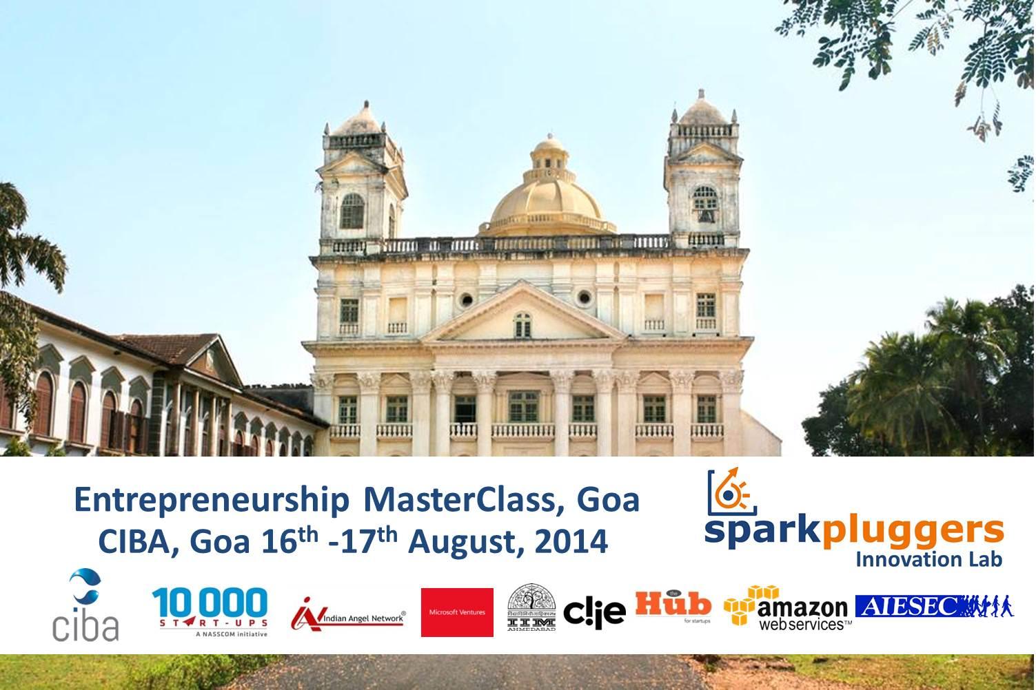 Sparkpluggers Entrepreneurship MasterClass Goa