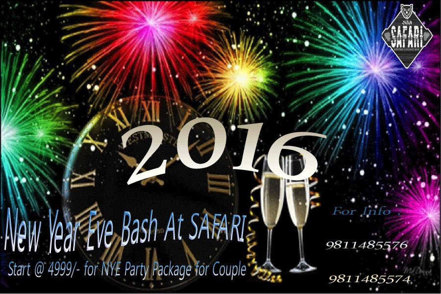 New Year Eve Bash for Couples - At SAFARI with DJ GILL Live Performance on BEAT