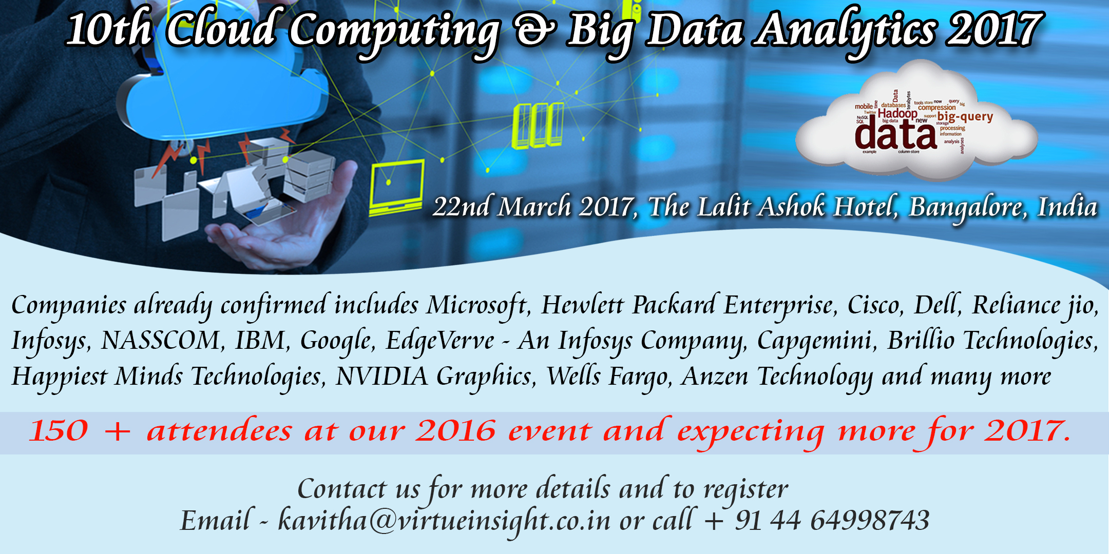 10th Annual Cloud Computing & Big Data Analytics 2017