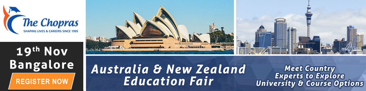 Biggest Australia and New Zealand Education Fair 2016 in  Bangalore