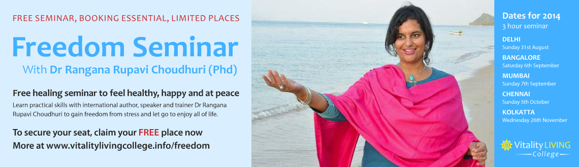 Freedom from stress with Dr Rangana Rupavi Choudhuri (PhD) Bangalore
