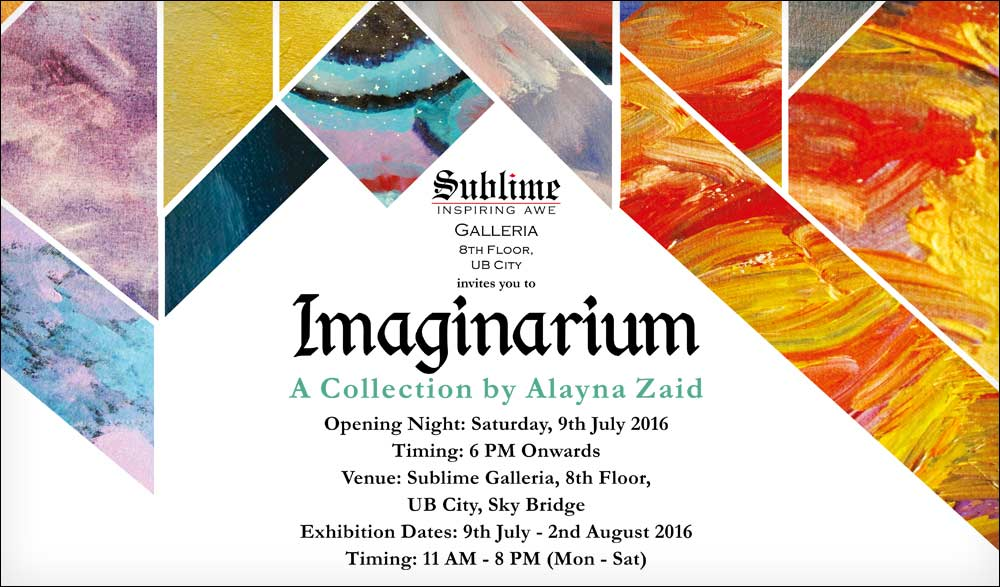 Imaginarium: An Art Show by 9-year old Alayna Zaid