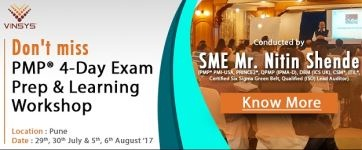 Join International Instructor Mr. Nitin Shende At 4-Day PMP® Workshop
