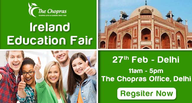Ireland Education Fair 2017 in Delhi - Free Registration