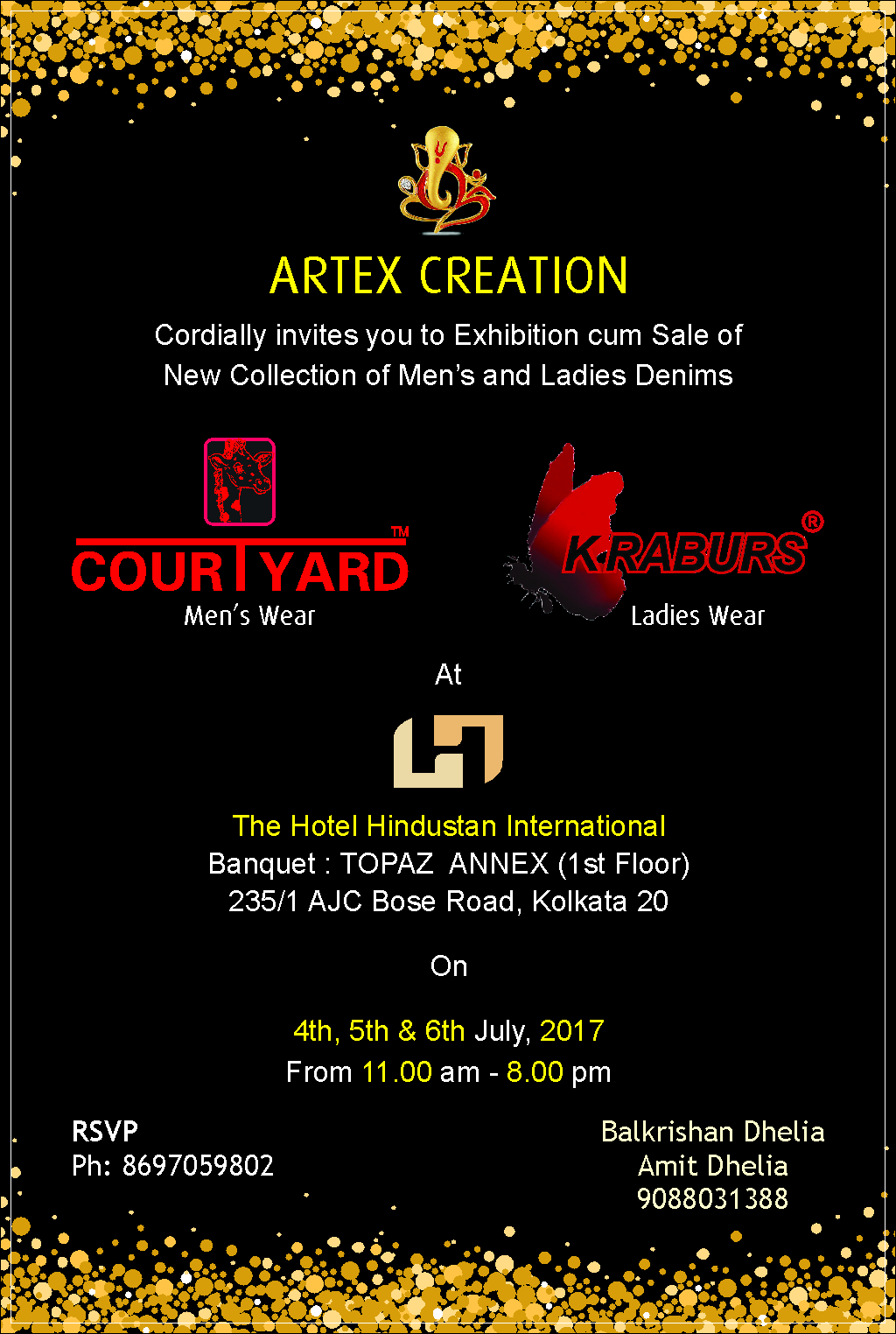 ARTEX CREATION PRESENT EXHIBITION CUM SALE  JULY 2017