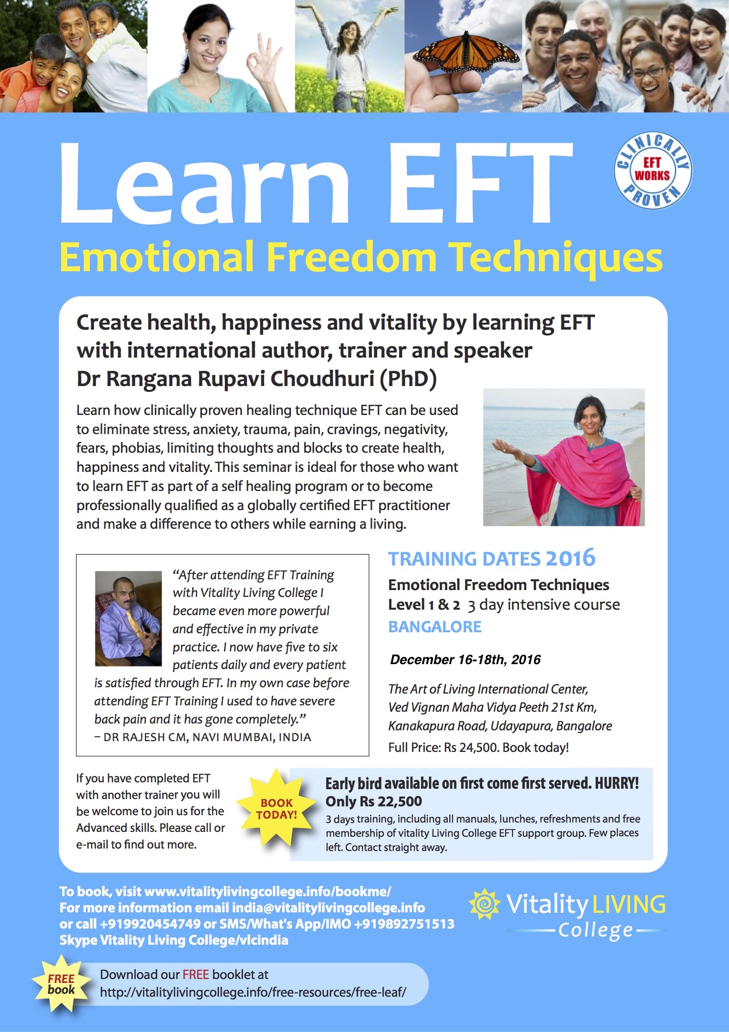 Emotional Freedom Techniques (EFT) Bangalore December 2016 with Dr Rangana Rupavi Choudhuri