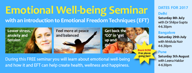 Emotional Well-Being with an Introduction to EFT with Trainer Mridula Nair