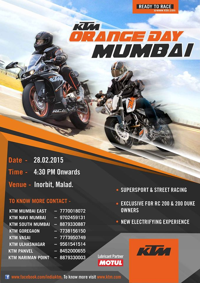 Mumbai: KTM Orange Day