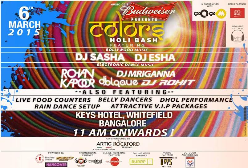 BUDWEISER Pz. COLORS- HOLI BASH-Edition-2 Ft. RohanKapoor/Rohit/Blaque/Sasha/Mriganna/Esha
