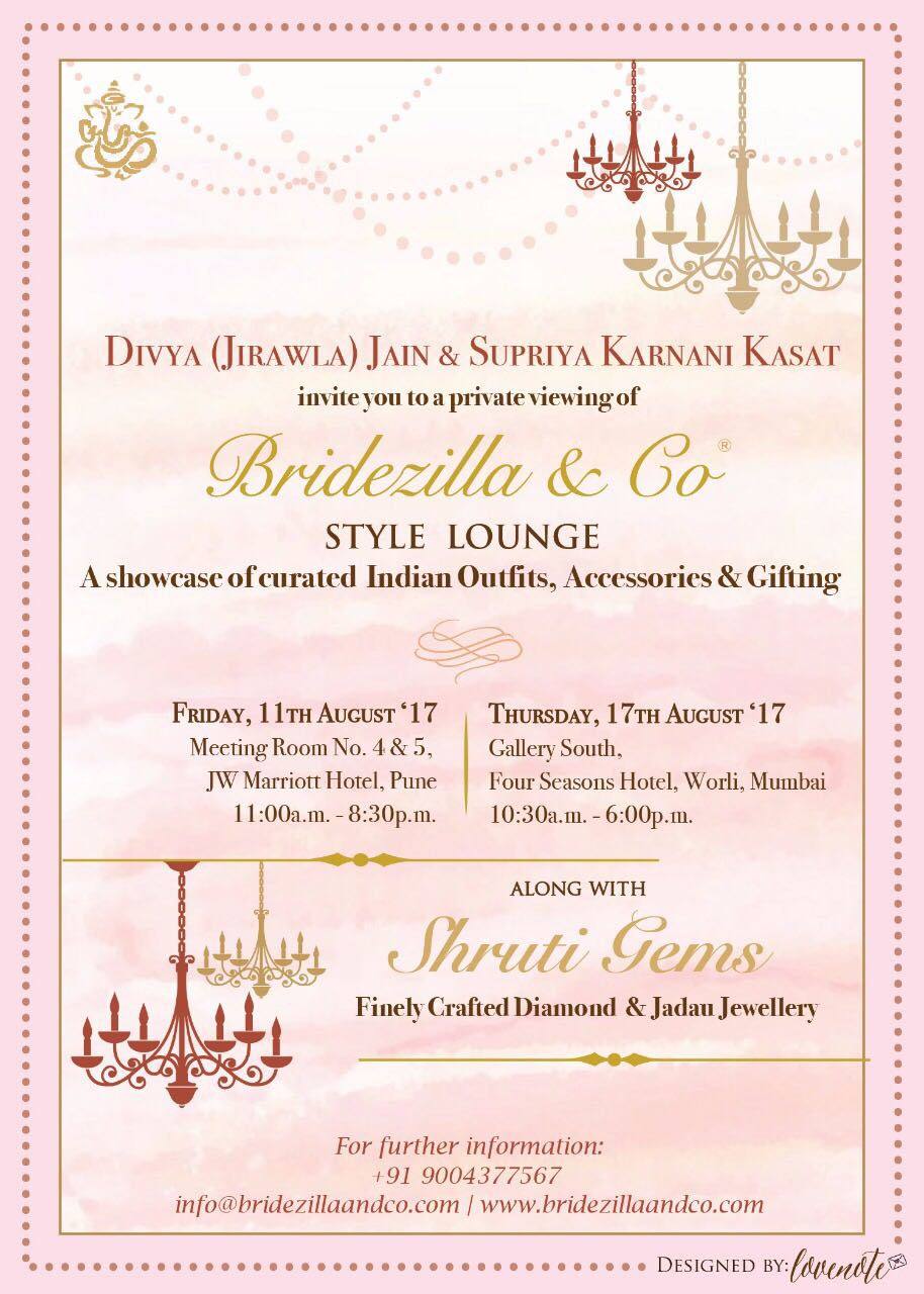 Bridezilla&Co x Shruti Gems Style Lounge
