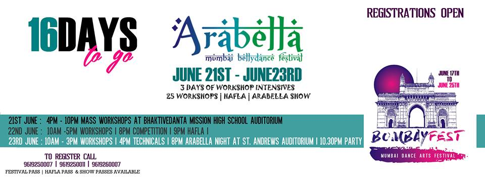 BombayFest : Arabella : Mumbai BellyDance Festival : June21st to June23rd