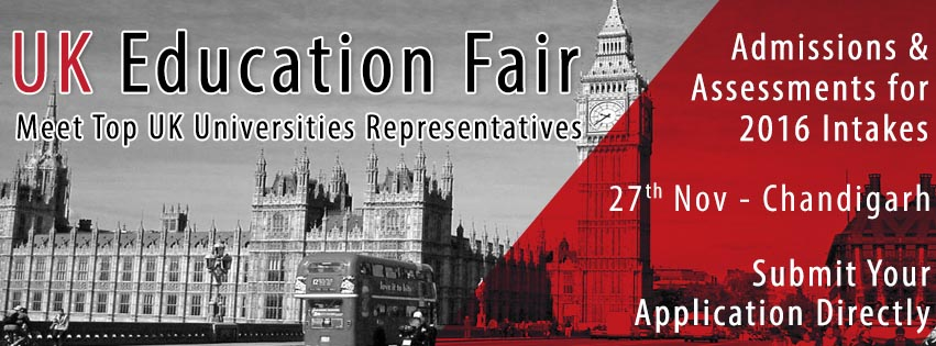 Upcoming UK Education Fair in Chandigarh for 2016 Intakes Hosted by The Chopras