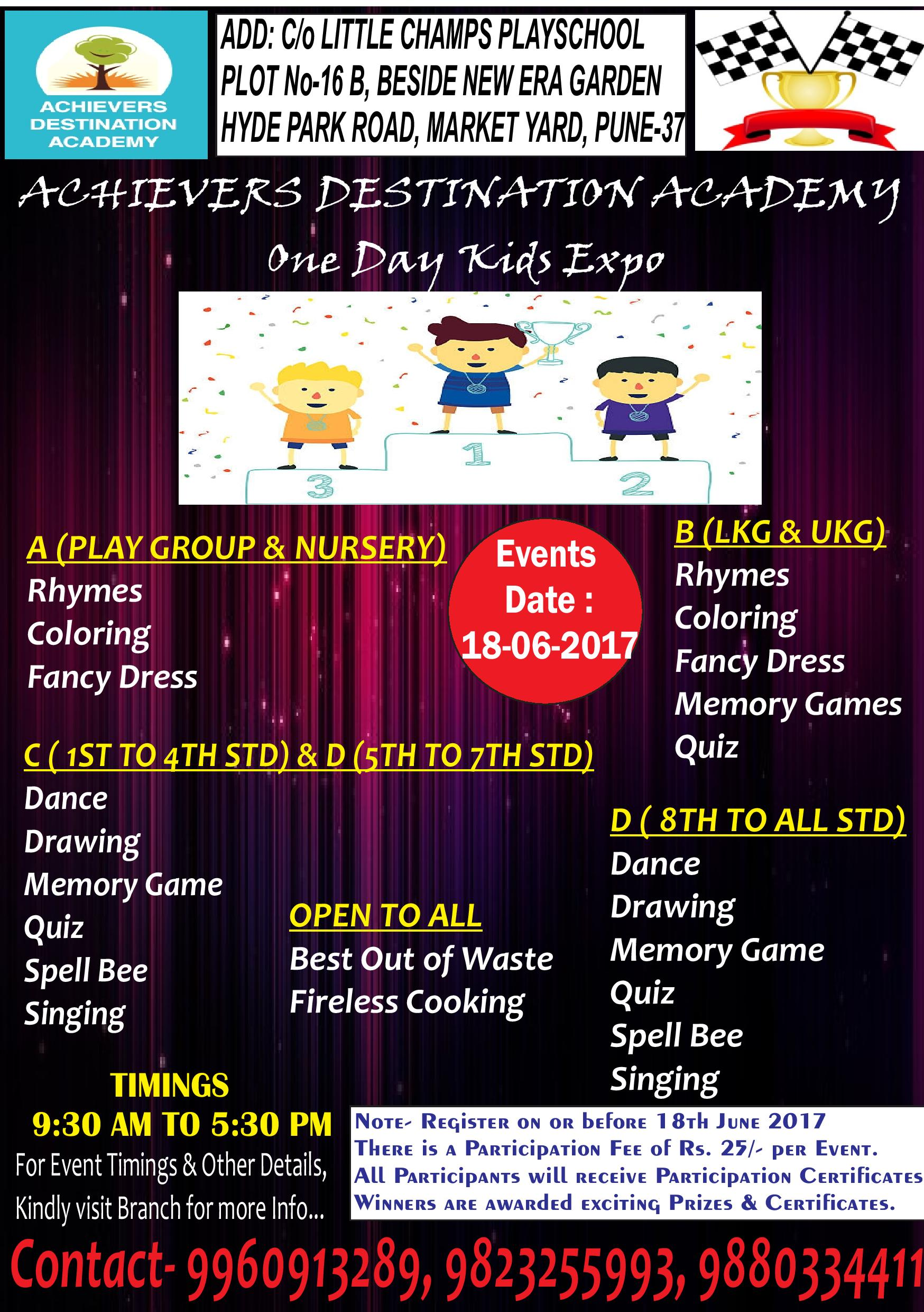 Achievers Destination Academy Conducted One Day Expo for All Age Group
