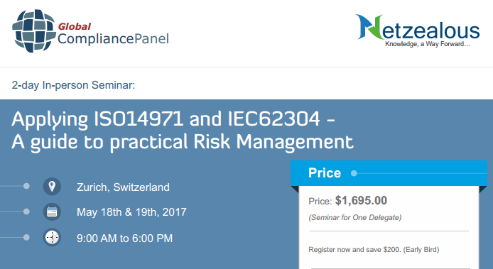 Applying ISO14971 and IEC62304 2017 at Switzerland