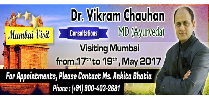 Ayurvedic Consultation in Mumbai- 17th May to 19th May 2017