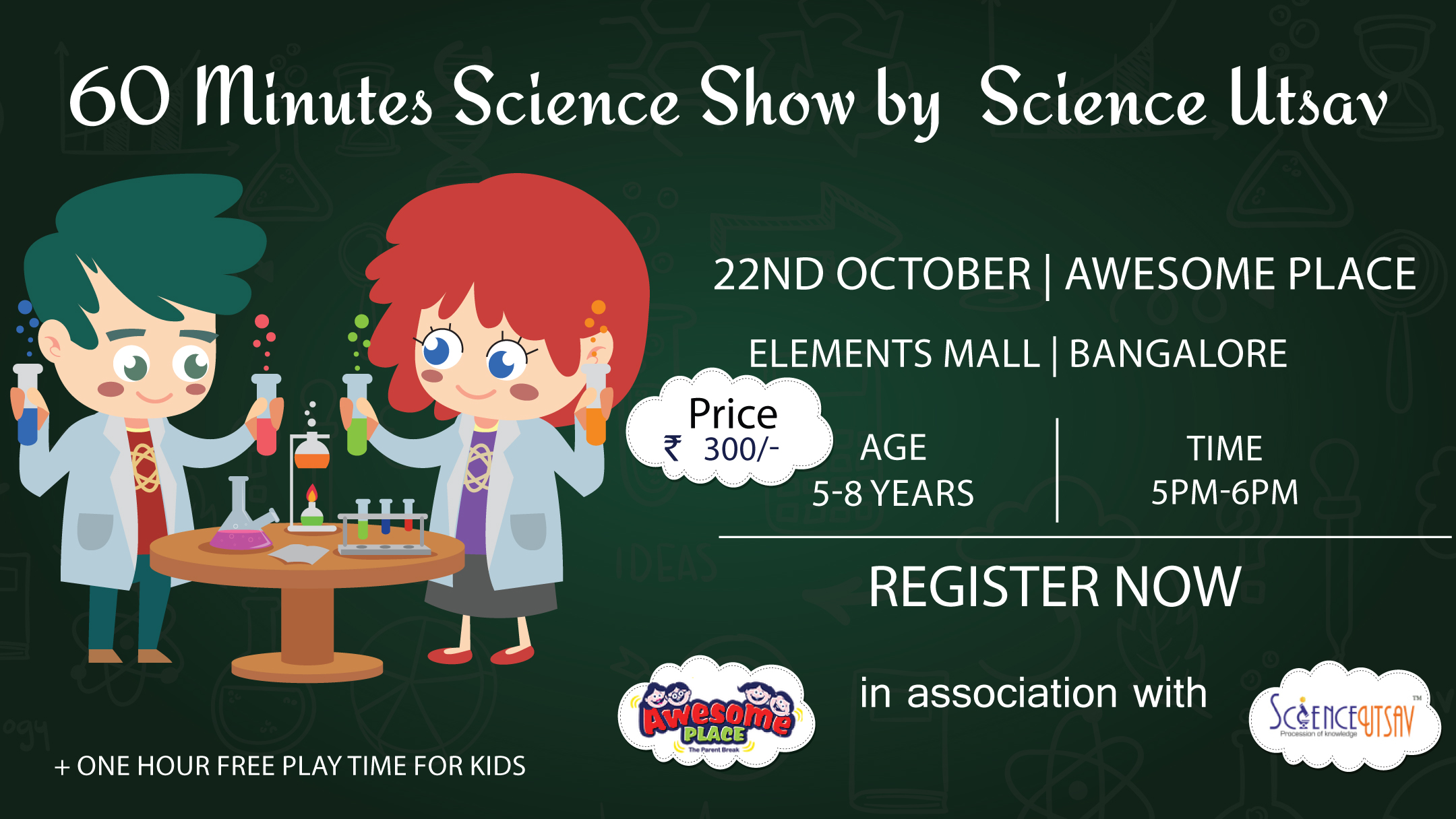 60 mins Science Show by Science Utsav - Elements Mall, Bangalore