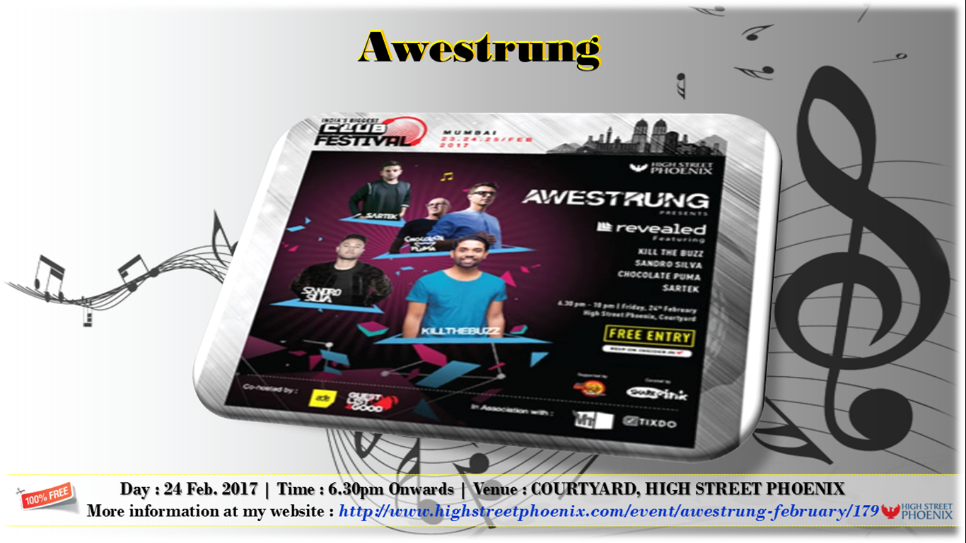 Awestrung with Revealed Records at High Street Phoenix | 24th Feb 2017