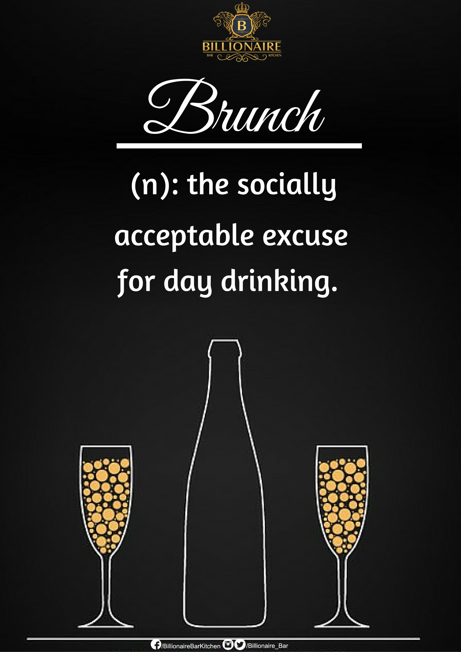 Sunday Brunch at Billionaire Bar & Kitchen