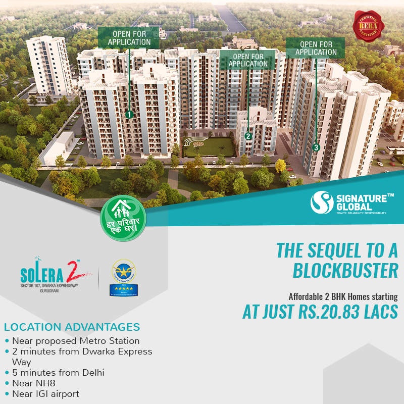 Signature Global Solera 2 Sector 107 Gurgaon |9650813405