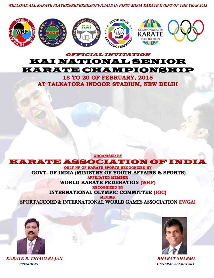 KAI SENIOR NATIONAL KARATE CHAMPIONSHIP 2015