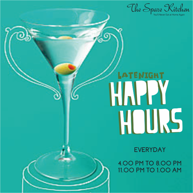 The Spare Kitchen introduces Late Night Happy Hours for the first time in Mumbai