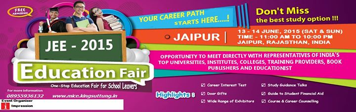JAIPUR EDUCATION EXPO (JEE) - 2015 1st EDITION
